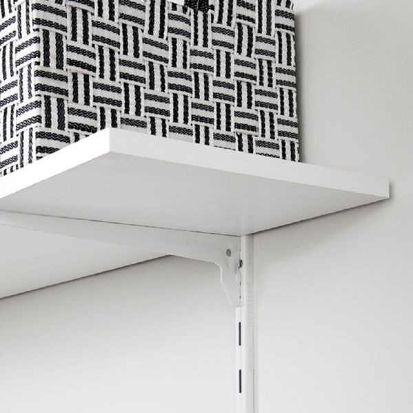 Estante para guia + cartela. Blanco. 60x20xh1,8 cm.